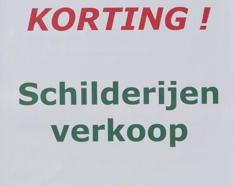 Schilderijen Korting Voorraad Verkoop SALE