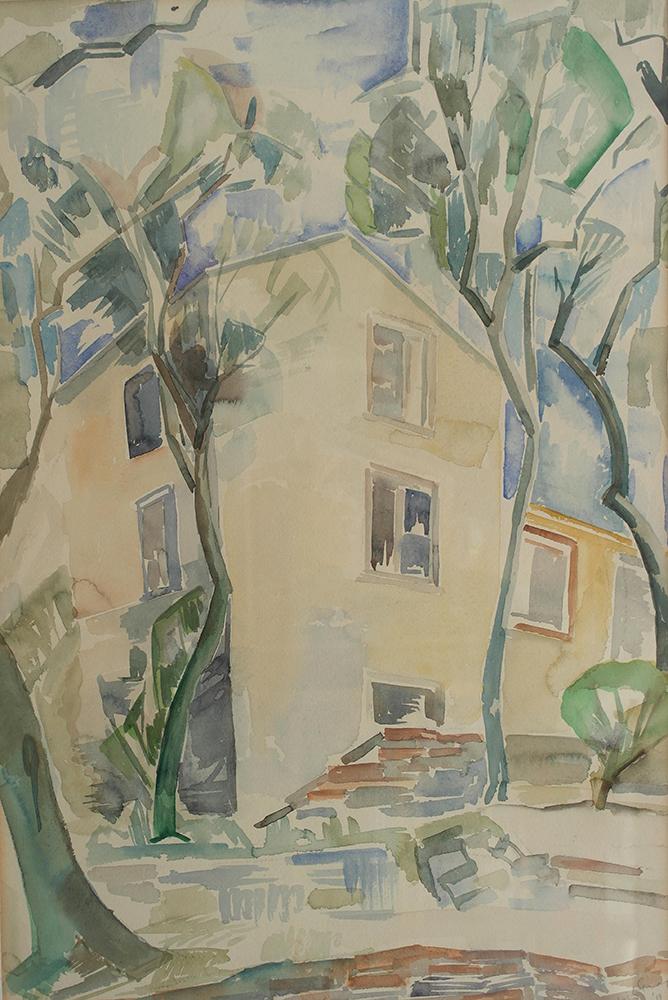 Dirk Trap Huis aquarel