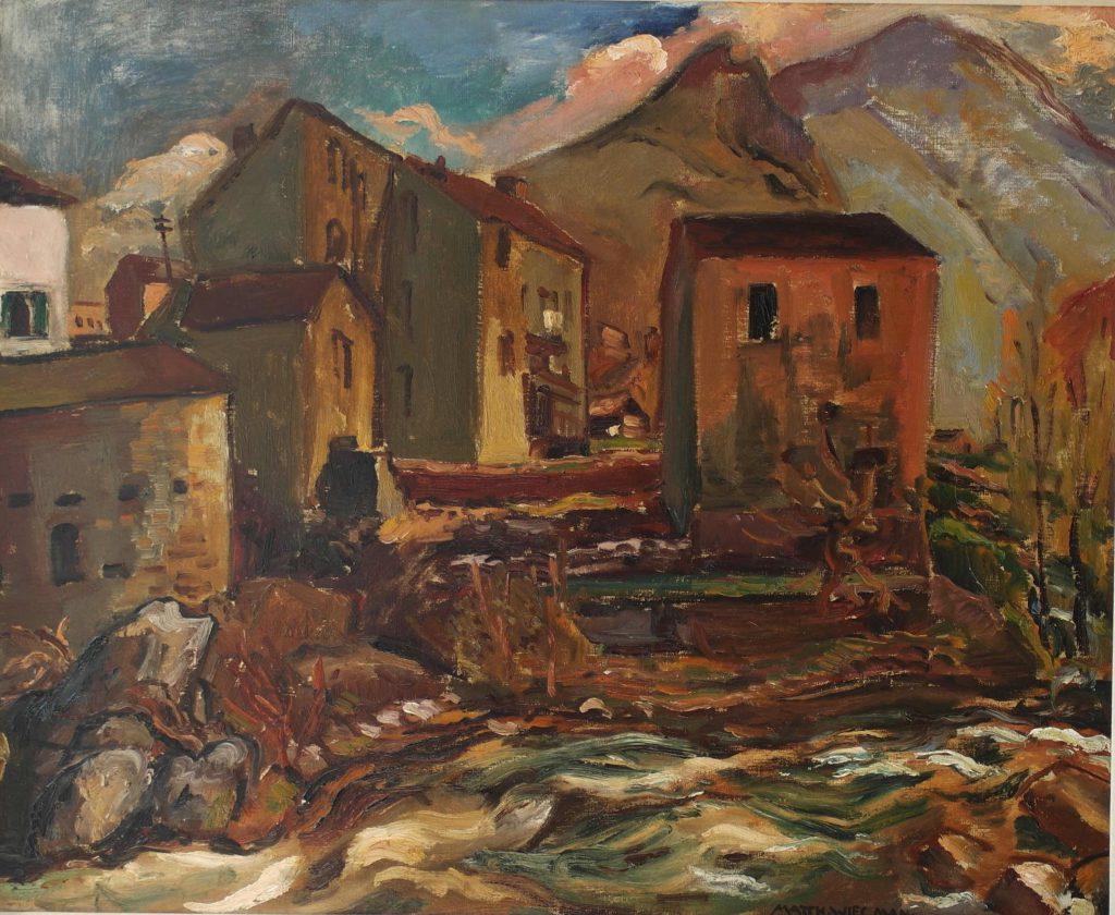 Matthieu Wiegman Corsica olieverf op doek